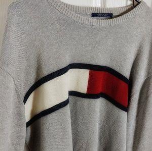 VTG Authentic Tommy Hilfiger Big Logo Flag Knit